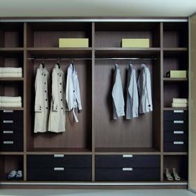 распашной шкаф в прихожую наполнение фото