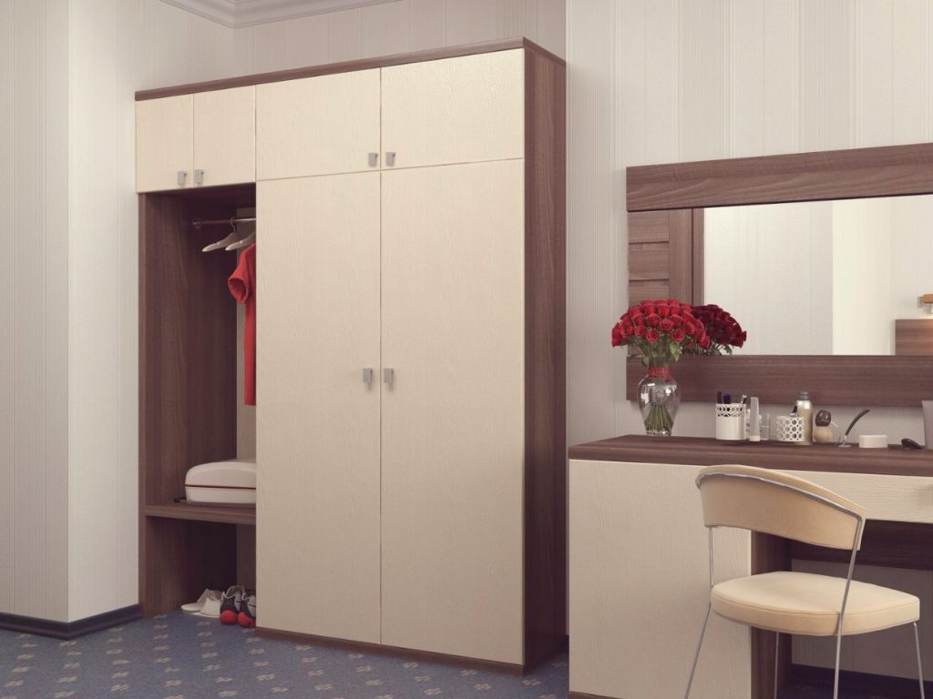 распашной шкаф в прихожую конструкция и дизайн