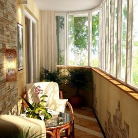 расширение балкона дизайн идеи