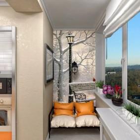 расширение балкона декор фото