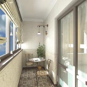 расширение балкона декор идеи