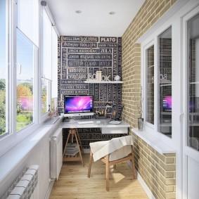 расширение балкона интерьер