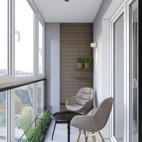 расширение балкона фото интерьера