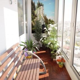 расширение балкона фото оформления