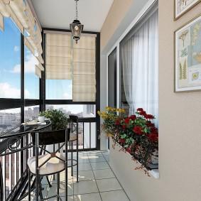 расширение балкона варианты фото