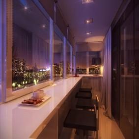 расширение балкона дизайн