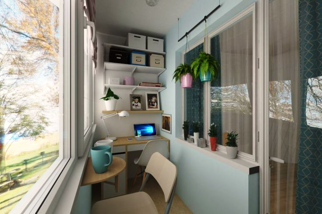 расширение балкона кабинет