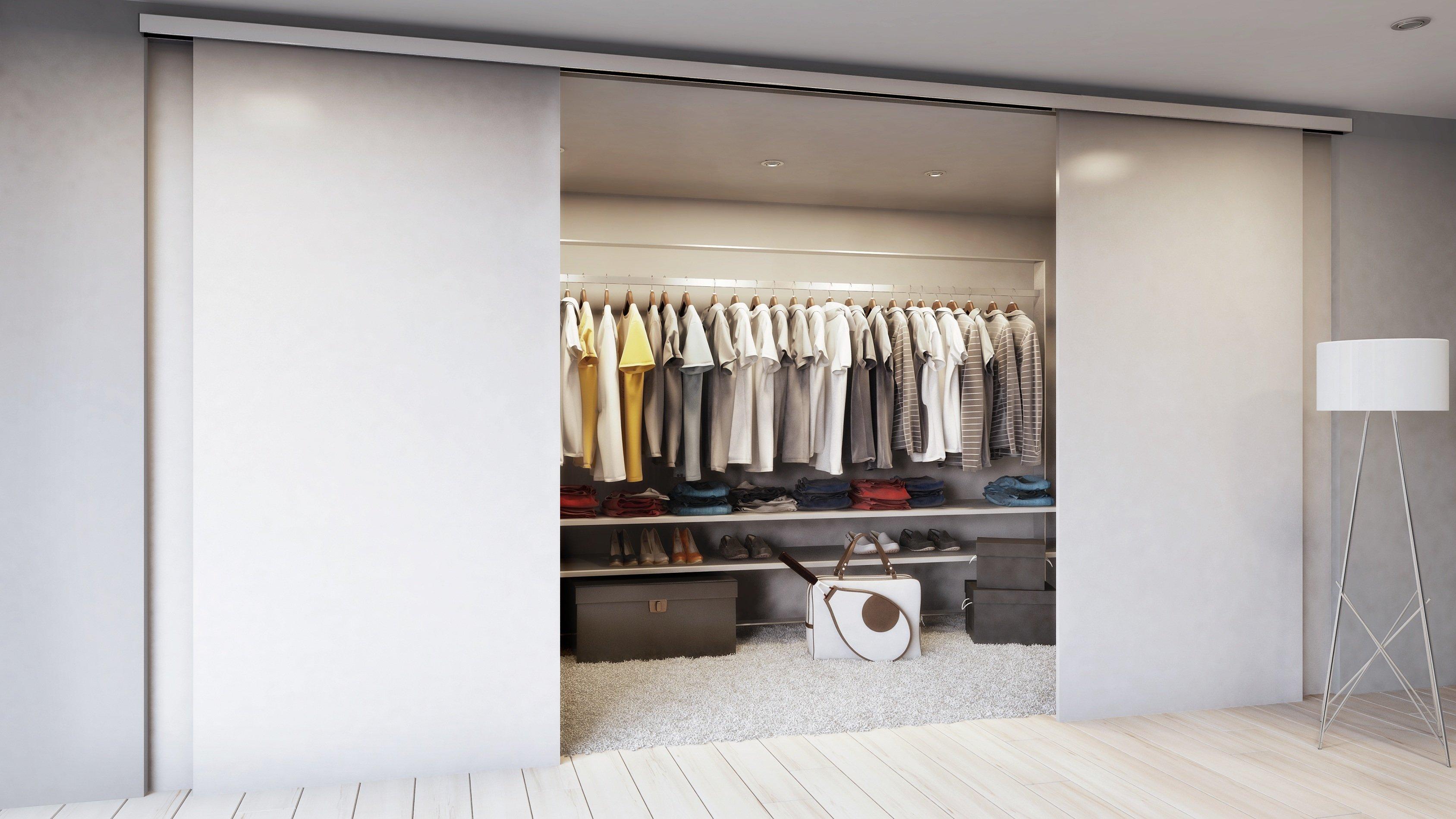раздвижные двери для гардеробной дизайн фото