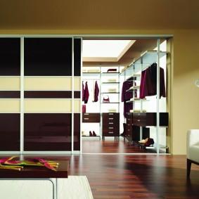 раздвижные двери для гардеробной идеи фото