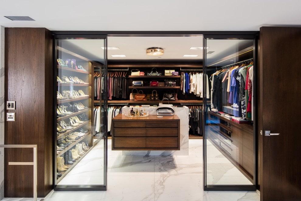 раздвижные двери для гардеробной стекло