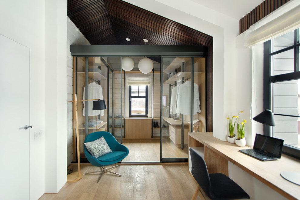 раздвижные двери для гардеробной стеклянные