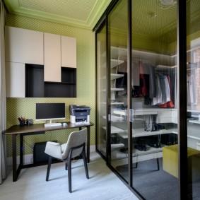 раздвижные двери в гардеробную идеи декора