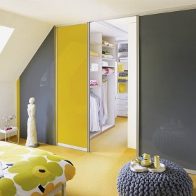 раздвижные двери в гардеробную фото интерьера