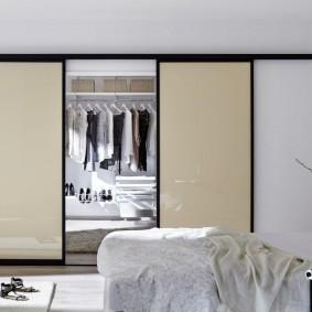 раздвижные двери в гардеробную фото виды
