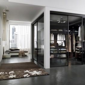 раздвижные двери в гардеробную виды декора