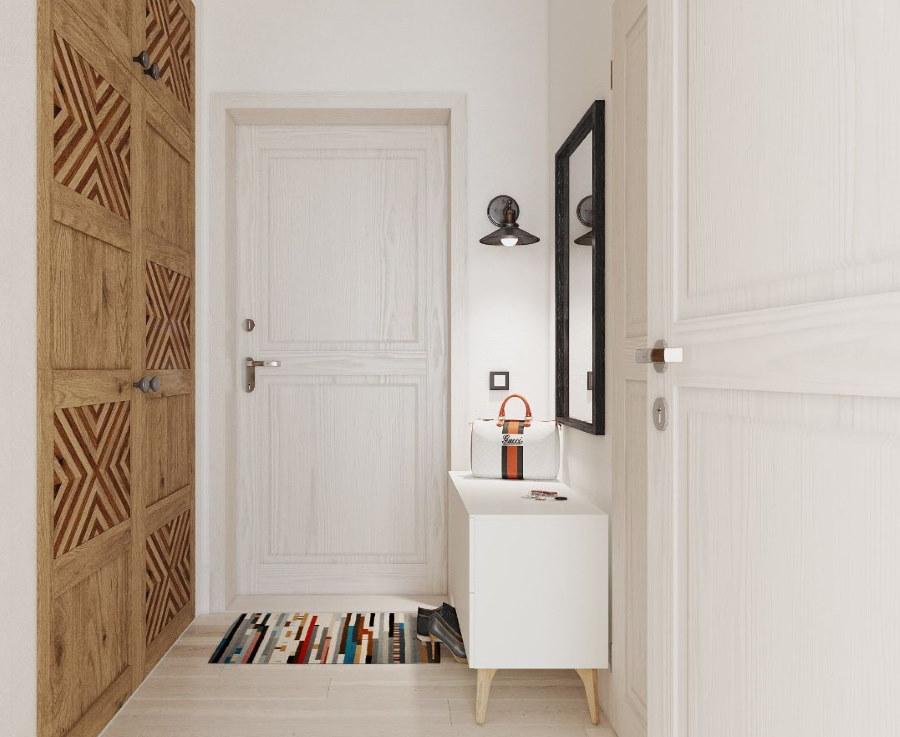 Встроенные шкафы в коридоре скандинавского стиля