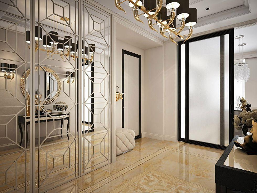 Роскошный шкаф в коридоре стиля арт-деко