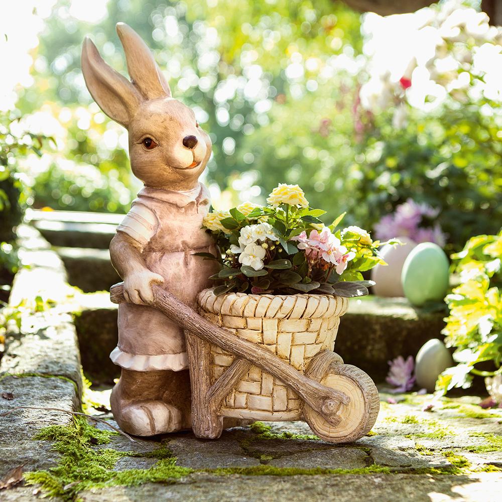 садовая фигура заяц