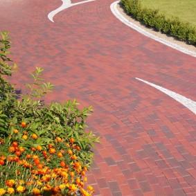 садовая плитка для дорожек декор фото