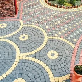 садовая плитка для дорожек идеи оформления