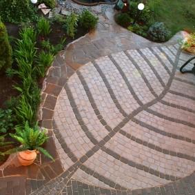 садовая плитка для дорожек варианты фото