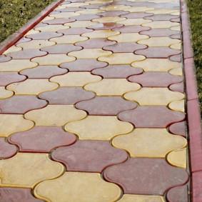 садовая плитка для дорожек варианты оформления
