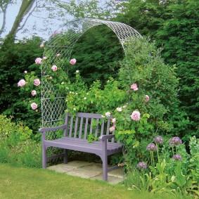 садовая скамейка фото дизайна
