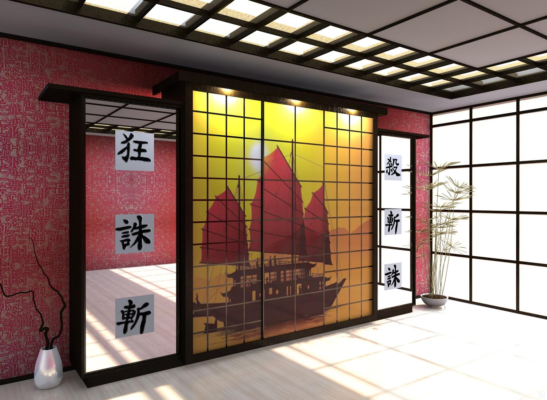 шкаф купе азиатский стиль