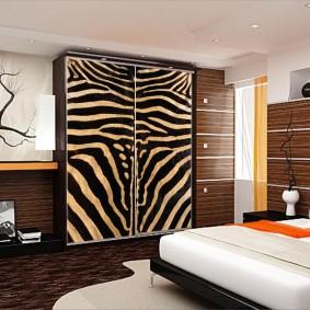 шкаф купе для спальни оформление фото
