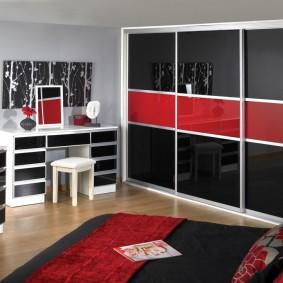 шкаф купе для спальни виды оформления