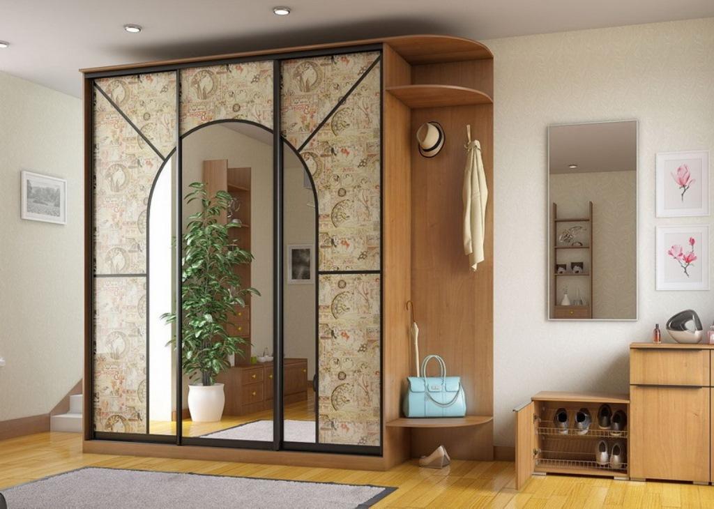 шкаф купе с зеркалом в прихожую дизайн