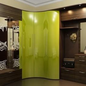шкаф с распашными дверями в прихожую идеи дизайна