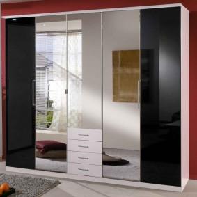шкаф с распашными дверями в прихожую фото интерьер