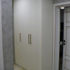 шкаф с распашными дверями в прихожую интерьер идеи