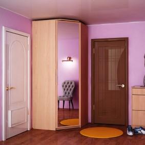 шкаф с распашными дверями в прихожую идеи