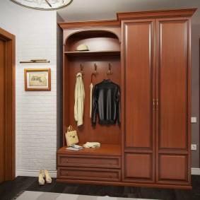 шкаф с распашными дверями в прихожую фото оформления
