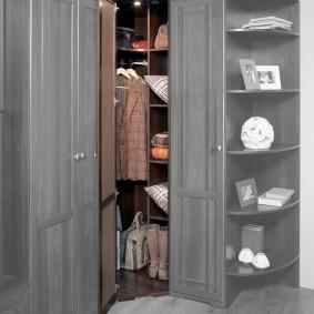шкаф с распашными дверями в прихожую виды