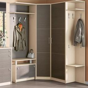 шкаф с распашными дверями в прихожую виды фото