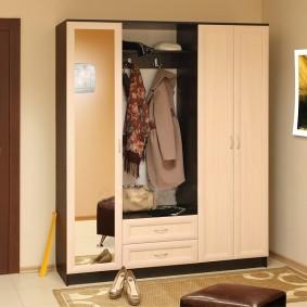 шкаф с распашными дверями в прихожую виды оформления