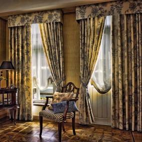 шторы для гостиной декор