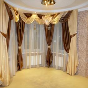 шторы для гостиной дизайн фото