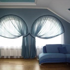 шторы в гостиной варианты фото