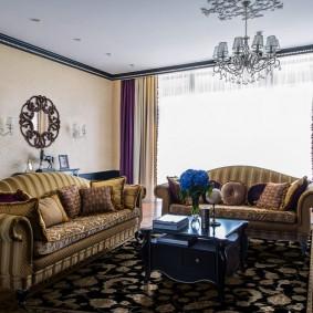 шторы в гостиной фото виды