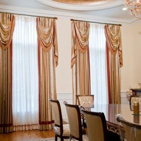 шторы в гостиной виды дизайна