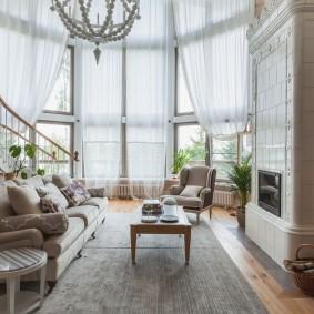 шторы в гостиной виды оформления