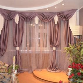 шторы в гостиной фото оформление