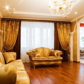 шторы в гостиной фото оформления