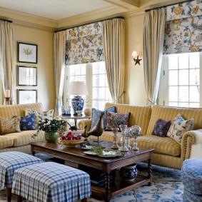 шторы в гостиной идеи оформление