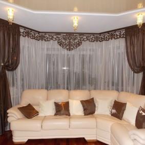 шторы в гостиной варианты