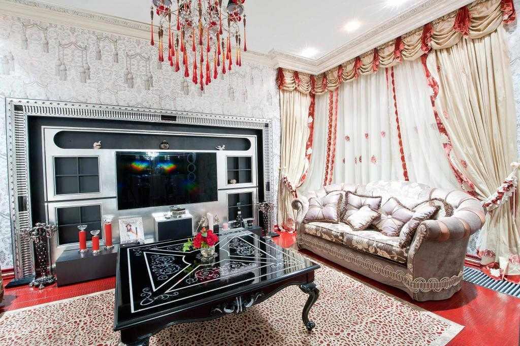 шторы в гостиную классика фото